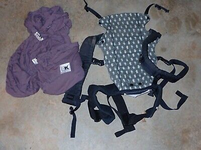 Lot of two baby carriers Baby K'Tan size medium and Beco carrier
