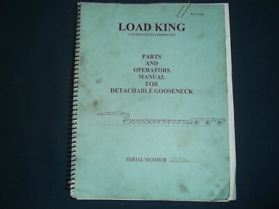 LOAD KING GOOSENECK TRAILER PARTS OPERATOR OPERATION & MAINTENANCE MANUAL BOOK Gooseneck Trailer Parts