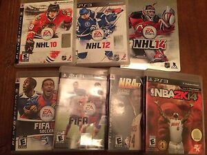 PS3 sports game stack.