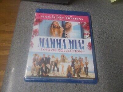 Mamma-Mia 2-Movie Collection blu-ray + Digital Sealed/free ship! Abba