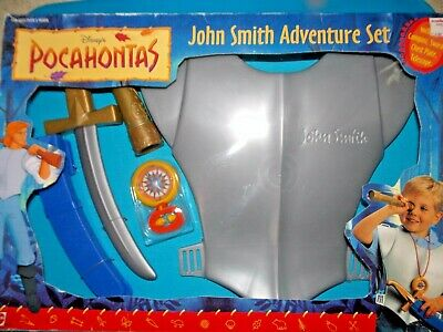 vtg 1990s 1995 Mattel Pocahontas John Smith Adventure Set Costume Sword cosplay  - Caillou Costume