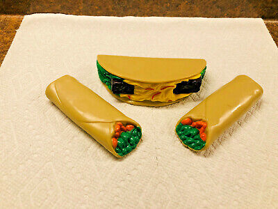 Step 2 Pretend Play Food Plastic Taco lot of 3 tacos Mexican toy kitchen parts