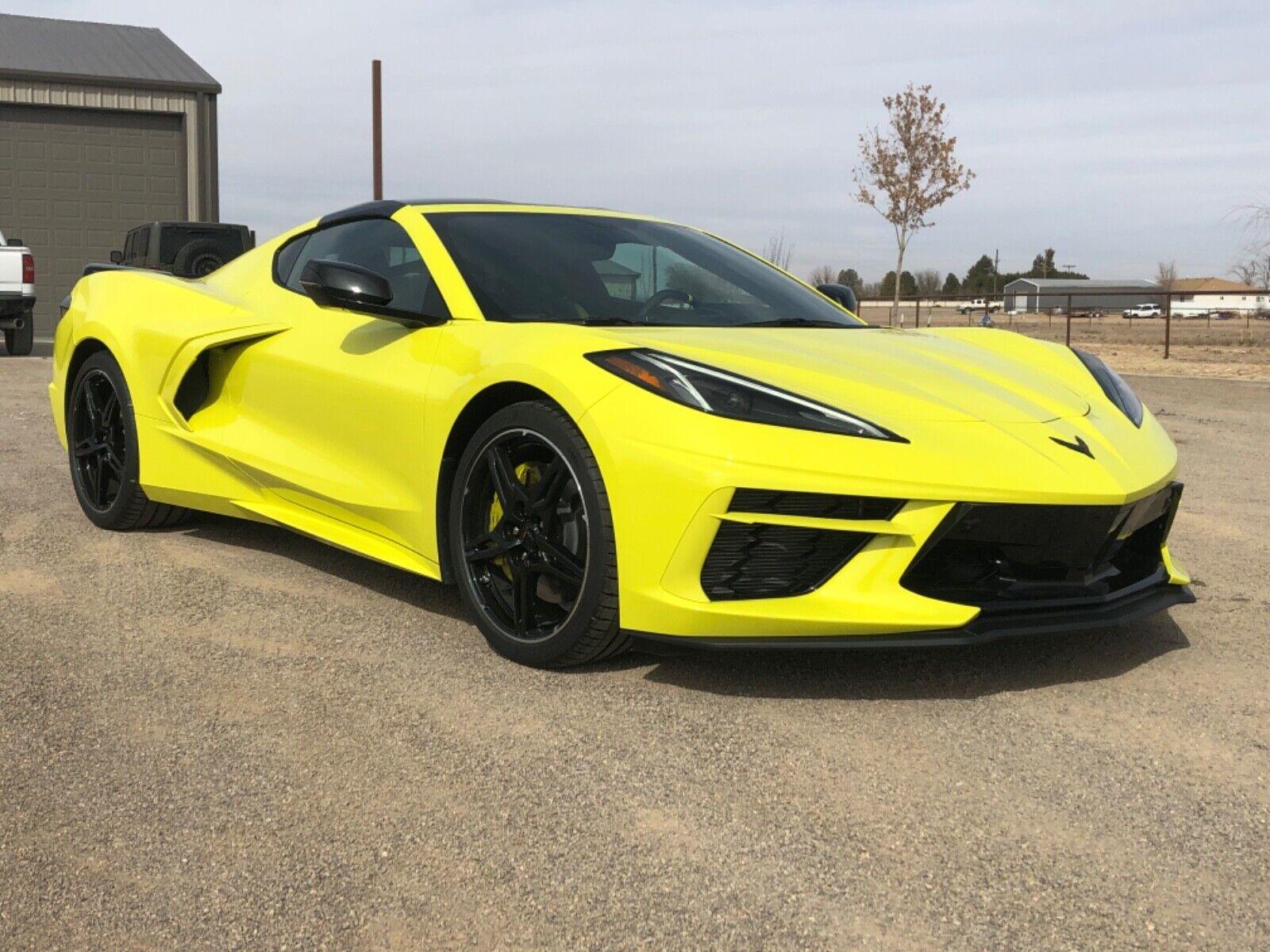 2020 Yellow Chevrolet Corvette  Z51   C7 Corvette Photo 1