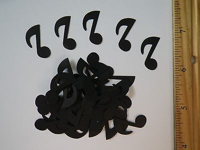 40 Fiskars Music Note Paper Die Cut Punches Confetti Toppers Scatter in black](Musical Note Paper)
