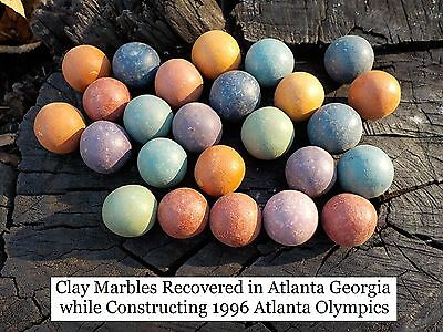 Old Rare Vintage Antique Civil War Relic Clay Marble Recovered Atlanta Georgia