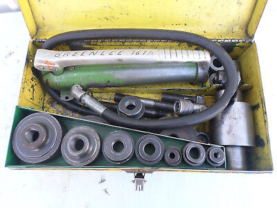 Greenlee 767a Hydraulic Punch Set --pump Ram Punches