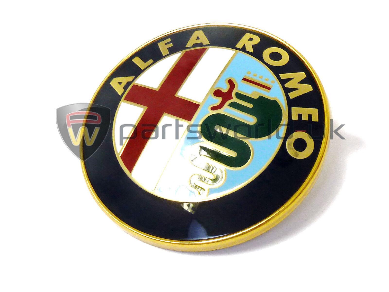 CLASSIC ALFA ROMEO ENAMEL LACQUERED FRONT BADGE LOGO EMBLEM BRAND NEW