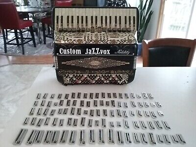 100 accordion reeds...RETAIL NEW over $700