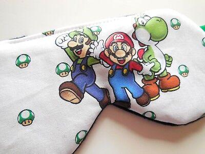Sleeping Eye Mask Slumber Night Blindfold Super Mario Luigi Adult Kid Boy Shade