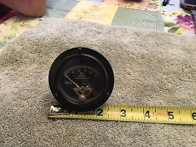 Vintage Sealed Instrument Panel Meter Am 0-50 Vdc Me253