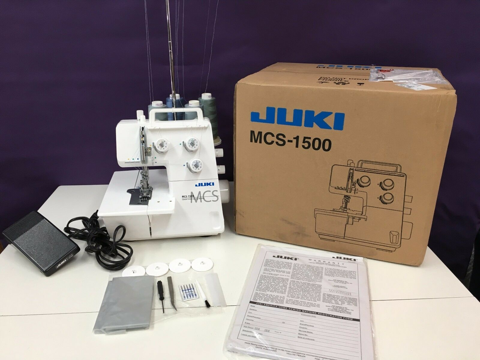 JUKI MCS-1500 CHAIN & COVER SERGER SEWING MACHINE Authorized
