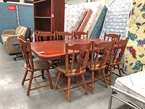 DELIVERY CLEARANCE SALE 9 Pcs SOLID WOODEN Dining Table Set