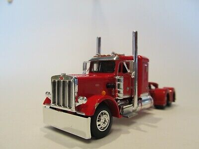 DCP FIRST GEAR 1/64 SCALE 359 PETERBILT SMALL BUNK, RED & CHROME