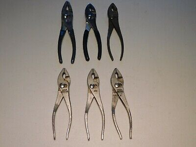 ADJUSTABLE SLIP JOINT PLIERS TOOL DROP FORGED LOT OF 6