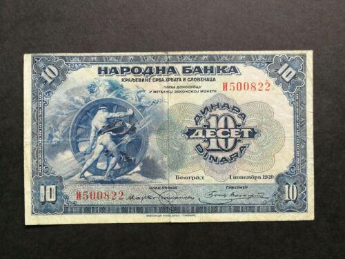 Yugoslavia,old banknote 10 Dinara 1920