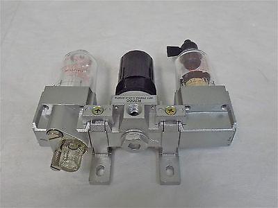 Worksmart 18 Npt Miniature Filter Regulator Lubricator 145 Psi Ws-pn-3frl-001
