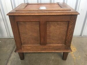 Antique Silky Oak Ice Chest Keperra Brisbane North West Preview