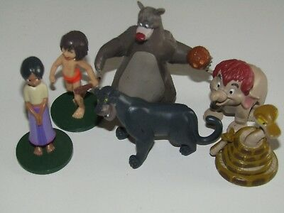 Collection of 6 Disney The Jungle Book plastic figures (used/ played with)