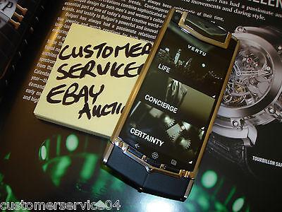 Authentic Vertu Ti Android Luxury Cell Phone Titanium with Black Leather RARE