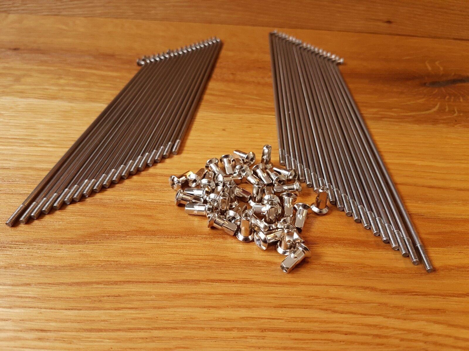 Speichen NSU Quickly N S bis 482754 HN Reparatursatz Nippel Edelstahl 6 Stück