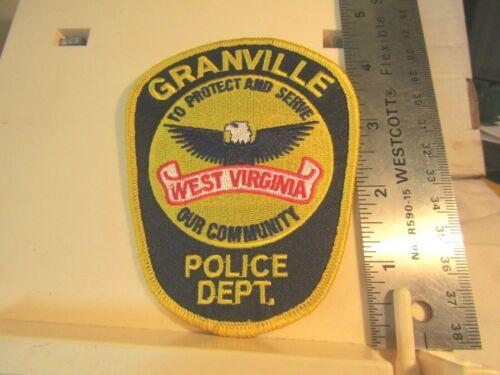 Granville West Virginia Police Dept. protect & serve our community patch NOS