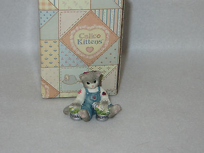 """SOMETHING'S FISHY""  ENESCO CALICO KITTENS MINI  #204048 - MIB"