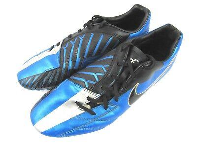 f2ced565e Nike T90 Laser 4 IV total 90 FG Men s Soccer Cleats Size 12 Blue Silver  Black