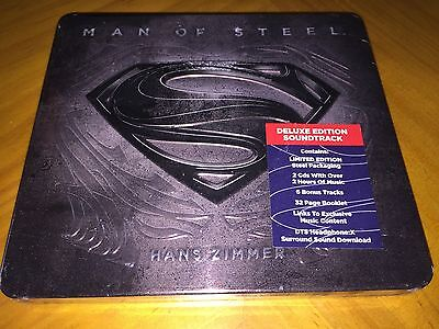 Hans Zimmer - Man of Steel OST Soundtrack (Limited Deluxe STEELCASE 2CD) NEW