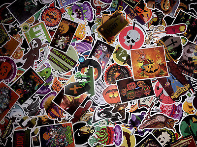 For Kids 100 Halloween Skateboard Stickers bomb Vinyl Laptop Luggage Sticker Lot](100 Halloween)