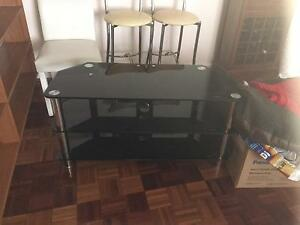 TV Table, Black Glass and Chrome Dubbo Dubbo Area Preview