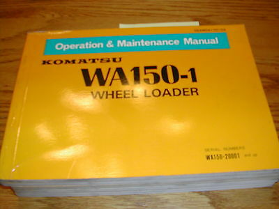 Komatsu Wa150-1 Operation Maintenance Manual Wheel Loader Operator Guide Book