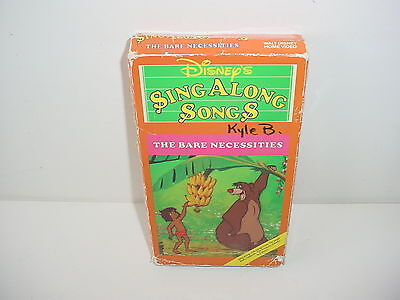 Sing Along Songs The Bare Necessities Walt Disney VHS Video Tape Movie](Bare Necessities Song)