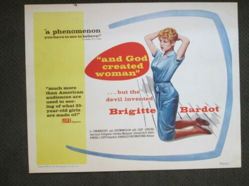 And God Created Woman  -  Original 1957   Title Card - Brigitte Bardot