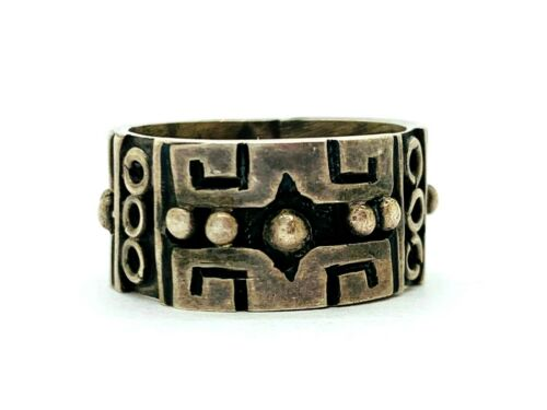Los Ballesteros Taxco Sterling Wide Band Ring