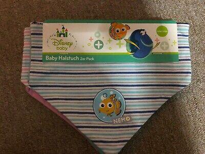 Disney Baby 2 Halstücher blau Findet Nemo Junge Halstuch 2er Set mit Klett ()
