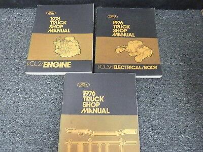 1976 Ford C L W & F Series F100 F250 F350 Truck Shop Service Repair Manual Set