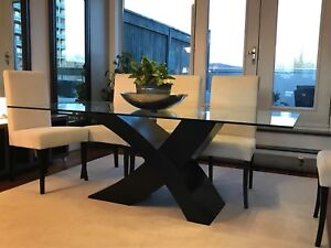 ZUO Modern Wave Glass dinning table