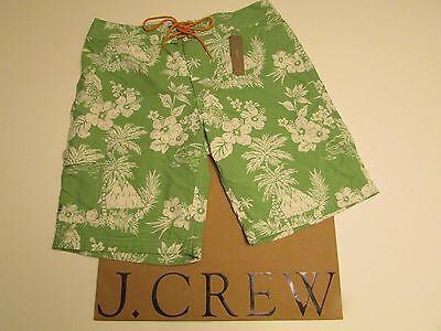 "J.crew  9"" board short in tropical floral  Swim Bathing Suit Board Short Trunks"