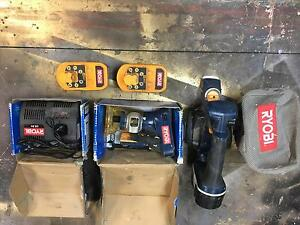 Ryobi 18V planer , trimmer . charger and 3 batteries Spence Belconnen Area Preview