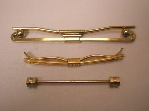 -3 lot Gold Tone Vintage Collar Bars (3 unbranded) L14
