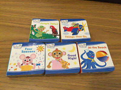 - Baby Einstein Mini Books Lot of 5 Jungle Seasons Beach Good Night 4 Seasons GO