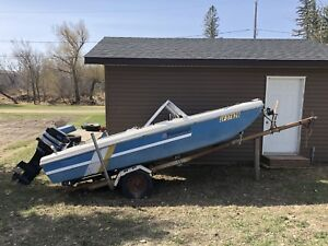 14ft boat, motor and trailer