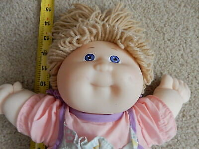 Vintage1980s Coleco Cabbage Patch Kids Doll CPK  Yellow Yarn Hair Blue Eyes