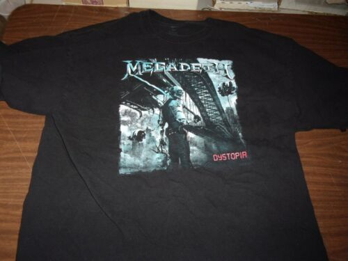 Megadeth Dystopia Concert Shirt Two Sided Authentic Vintage Rare!