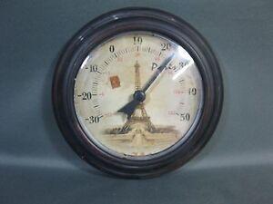 Stile-nostalgico-thermomether-IN-METALLO-ANTICO-PARIS-TORRE-EIFFEL-20-cm