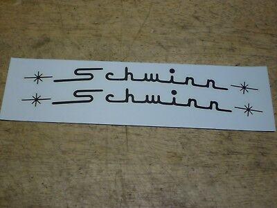 Die Cut Schwinn Approved Stingray Fork Dart Bicycle Black Peel /& Apply Decal Set
