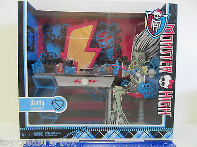 Monster High Frankie Stein Room Decor Vanity Set - Vanity, Chair & Accessories!