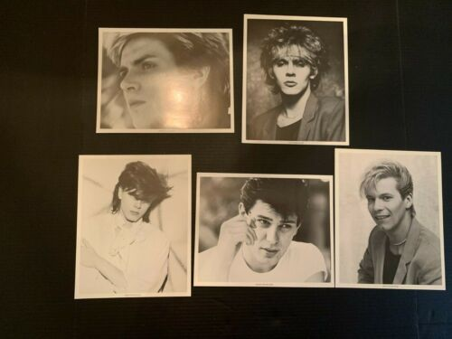 1984 Duran Duran Anabas Black and White 8x10 Photograph Lot of 5