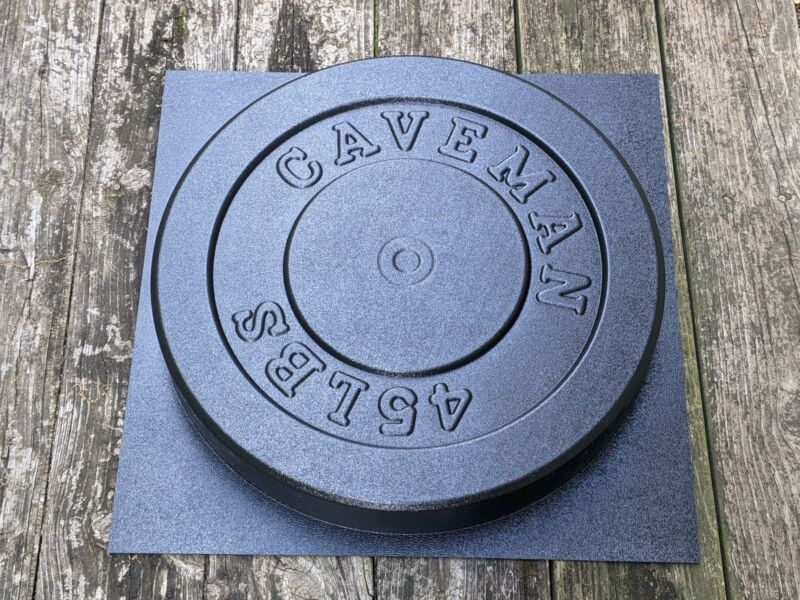Make Your Own Weights! 45 LBS Olympic Concrete Weight Mold. Made in USA