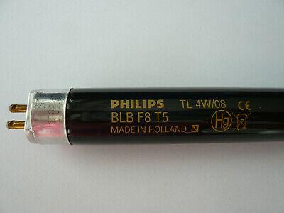 Philips Schwarzlicht Leuchtstofflampe TL 4W/08 BLB F8 T5 (Leuchtstoff Schwarz Licht)